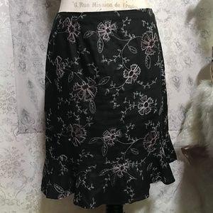 Mbroidered Metallic Floral Linen Peplum Skirt 16🐝
